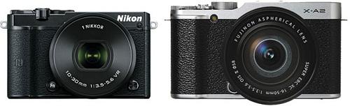 So sánh Nikon 1 J5 và Fujifilm X-A2