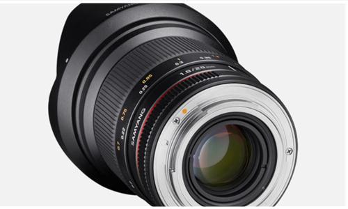 Samyang ra mắt mẫu ống kính mới-ống kính 20mm F1.8 ED AS UMC