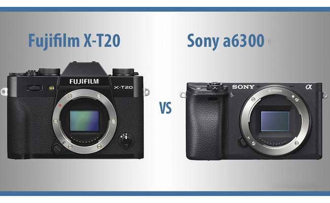So sánh máy ảnh Sony Alpha A6300 và máy ảnh Fujifilm X-T20