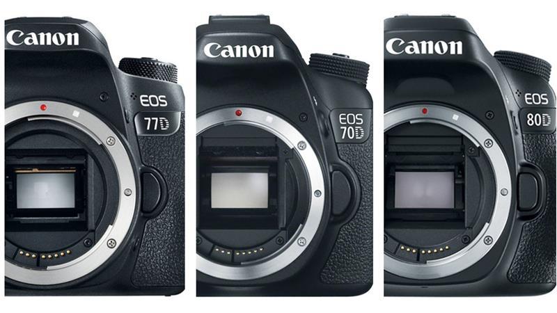 So sánh máy ảnh Canon 77D, Canon 70D và Canon 80D