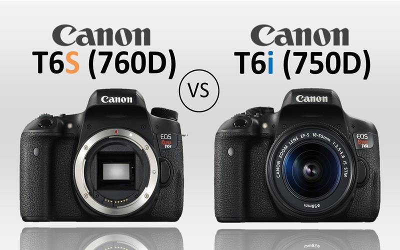 Canon EOS 760D và Canon EOS 750D có gì khác nhau