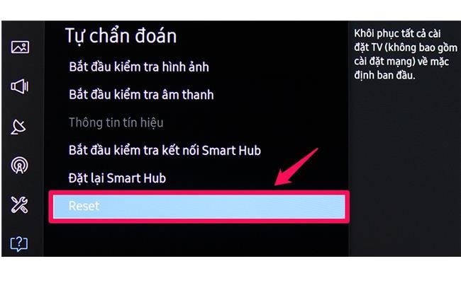 Hướng dẫn khôi phục cài đặt gốc cho Smart TiVi Samsung đời 2016