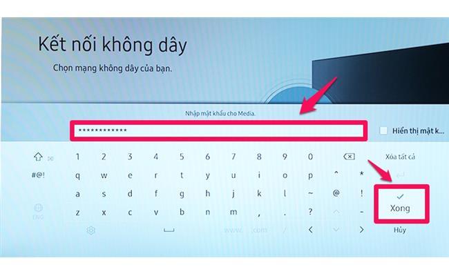 Cách kết nối Internet cho model Smart tivi Samsung đời 2017