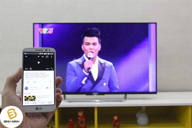 Hướng dẫn kết nối tivi Sony với điện thoại bằng ứng dụng Google Cast