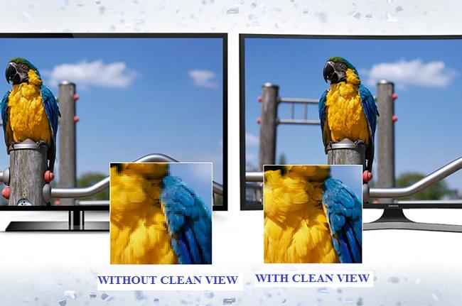 Công nghệ hình ảnh vượt trội Clean View trên ti vi Samsung