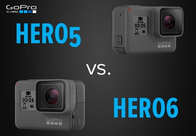 So sánh GoPro Hero 6 Black với Hero 5 Black