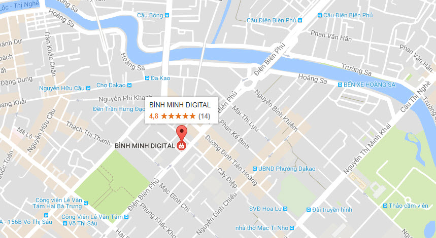 Thông báo khai trương trụ sở mới BINHMINHDIGTIAL tại 110 Điện Biên Phủ Q1 Tp.HCM