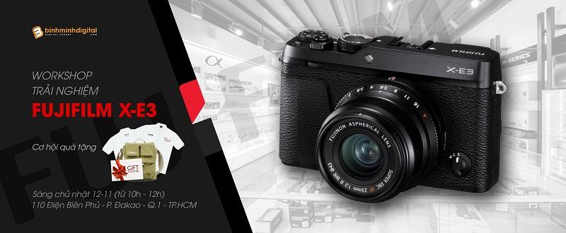 Workshop trải nghiệm máy ảnh Fujiifilm X-E3 tại Binhminhdigital
