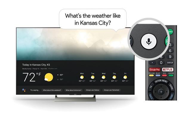 Google Assistant được tích hợp vào TV Android của Sony