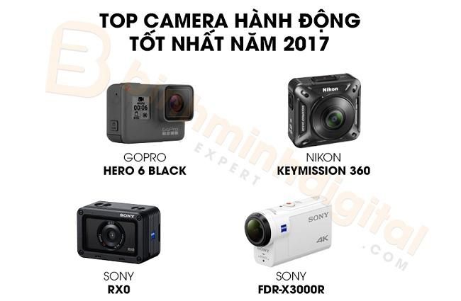 Top camera hành động tốt nhất năm 2017