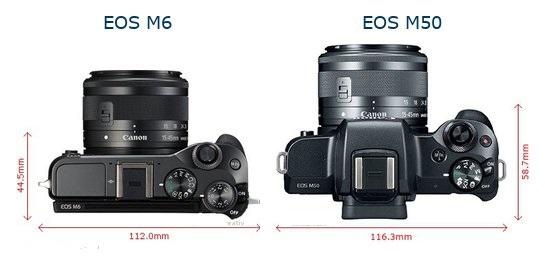 So sánh Canon EOS M50 và Canon EOS M6