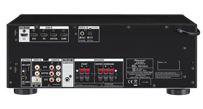 Amply AV 4K 5.1  Pioneer VSX-330(B)