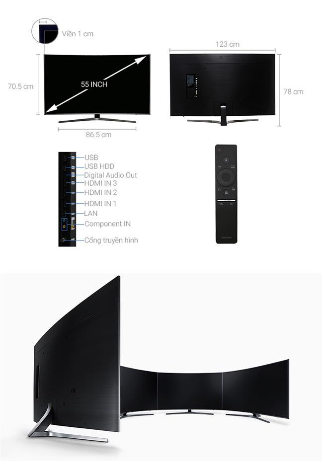 Tivi Samsung 65MU6500 (Internet TV, Màn Cong, 4K Ultra HD, 65 inch)