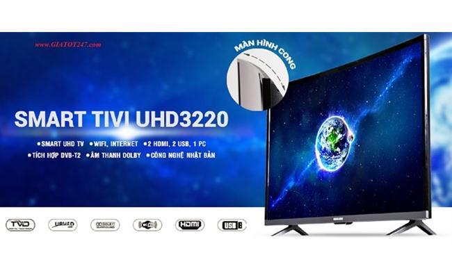 Tivi Darling UHD 3220 (Smart TV, Màn Hình Cong, 32 inch)