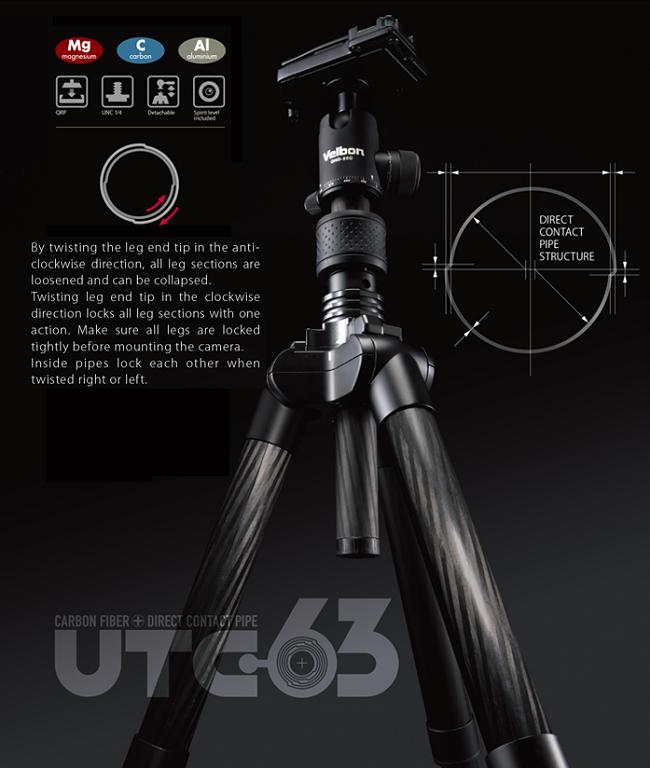 Chân máy Velbon UTC-63 (Leg only)