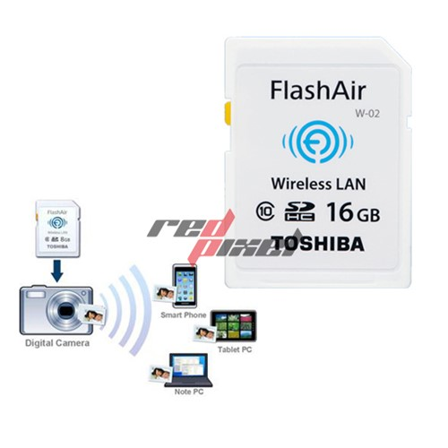 THẺ NHỚ FlashAir SDHC Wifi TOSHIBA 16GB