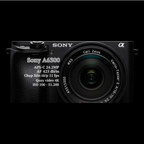 Máy Ảnh Sony Alpha A6300 (ILCE-6300L) KIT SEL16-50 F3.5-5.6 OSS + SEL55-210 F4.5-6.3 OSS (Đen)