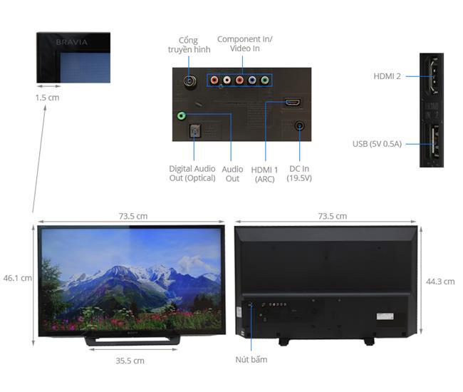 Tivi Sony 32R300D (HD ,32 inch)