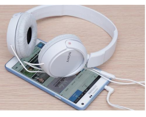 Tai Nghe Sony MDR-ZX110AP (Trắng)