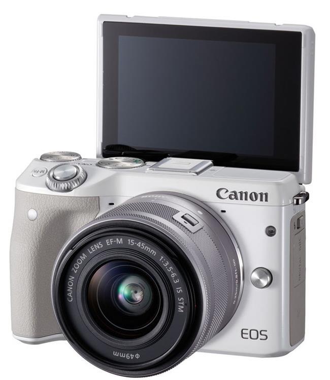 Máy ảnh Canon EOS M3 Kit EF-M15-45 IS STM + NGÀM CANON EF-EOS M