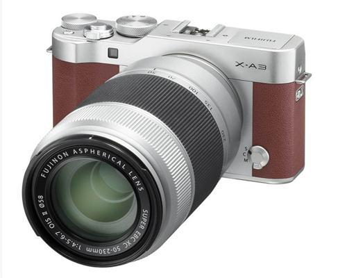 Máy Ảnh Fujifilm X-A3 Kit XC16-50 OIS II + XC50-230 OIS II (Nâu)