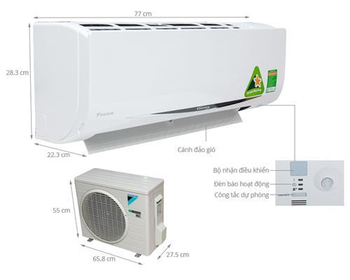 Máy Lạnh Daikin 2 HP FTKC50QVMV (inverter)