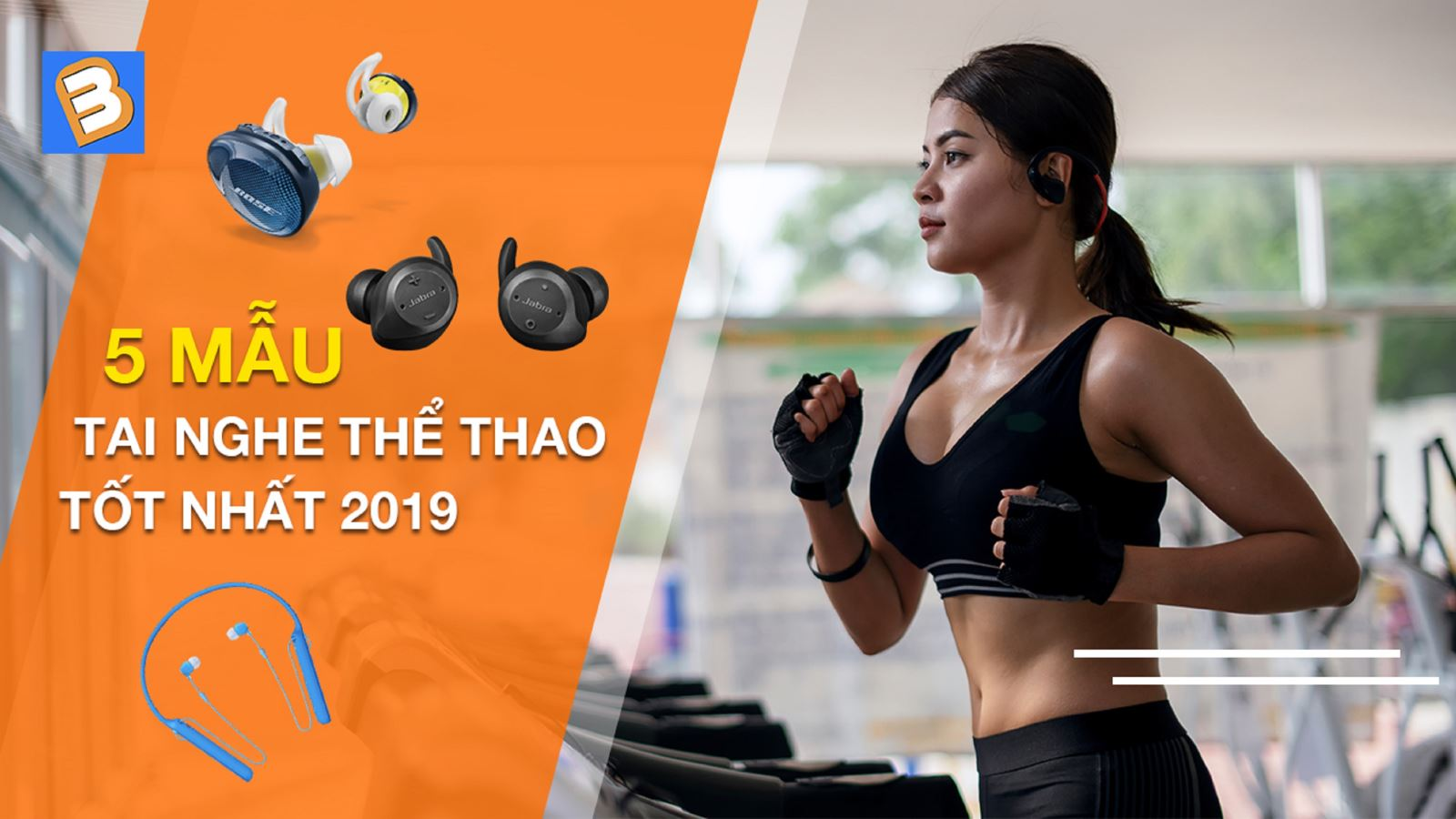 5mẫu tai nghe thể thao tốt nhất 2019