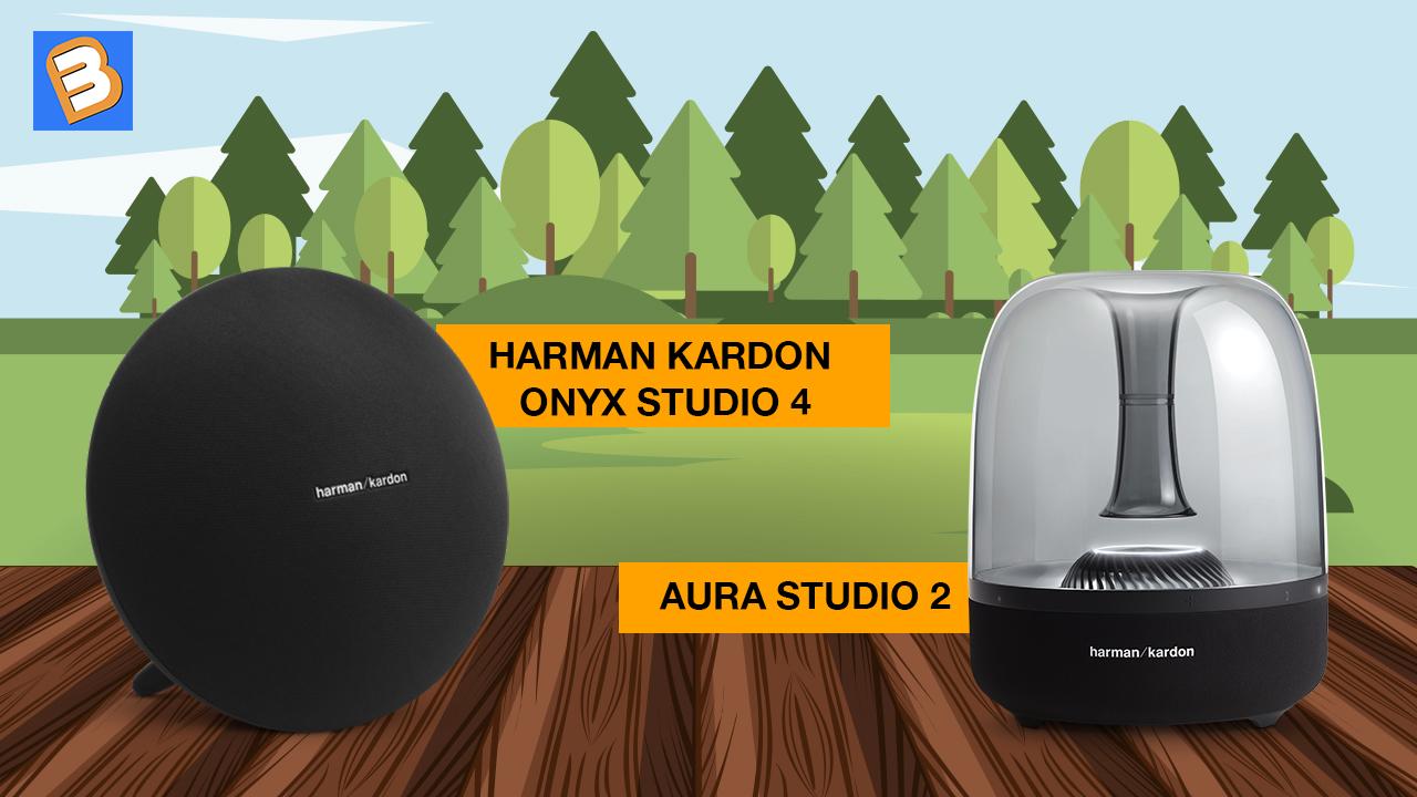 So sánh tính năng nổi bật giữa Harman Kardon Onyx Studio 4 vs Aura Studio 2