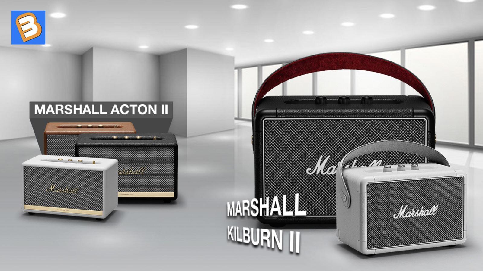 Marshall Acton IIvớiMarshall Kilburn II: Nên mua loa nào?