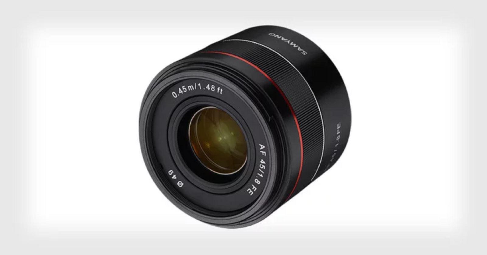 Samyang ra mắt ống kính AF 45mm f/1.8 FE cho Sony E