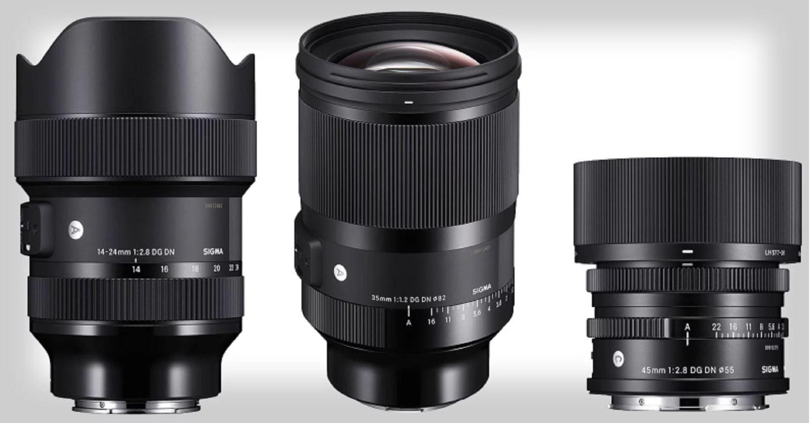 Sigma ra mắt 3 ống kính mới 35mm F1.2, 45mm F2.8 và 14-24mmcho dòng Sony E và Leica L