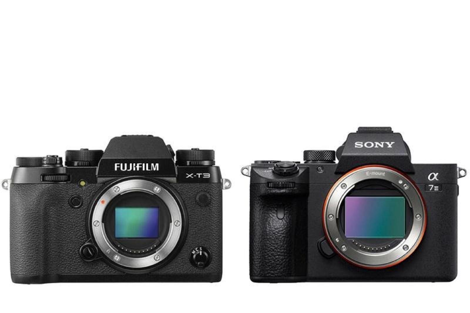 So sánh máy ảnh Fujifilm X-T3 và Sony A7 III