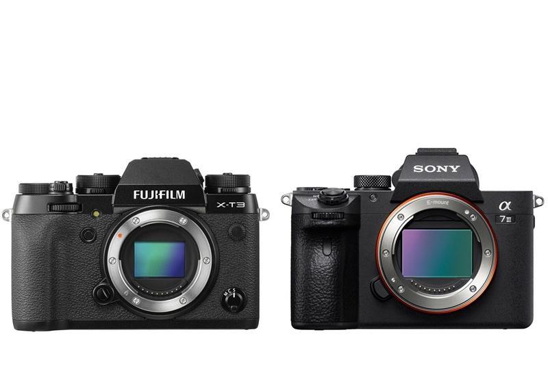 Kết quả hình ảnh cho Fujifilm X-T3 và Sony A7 III