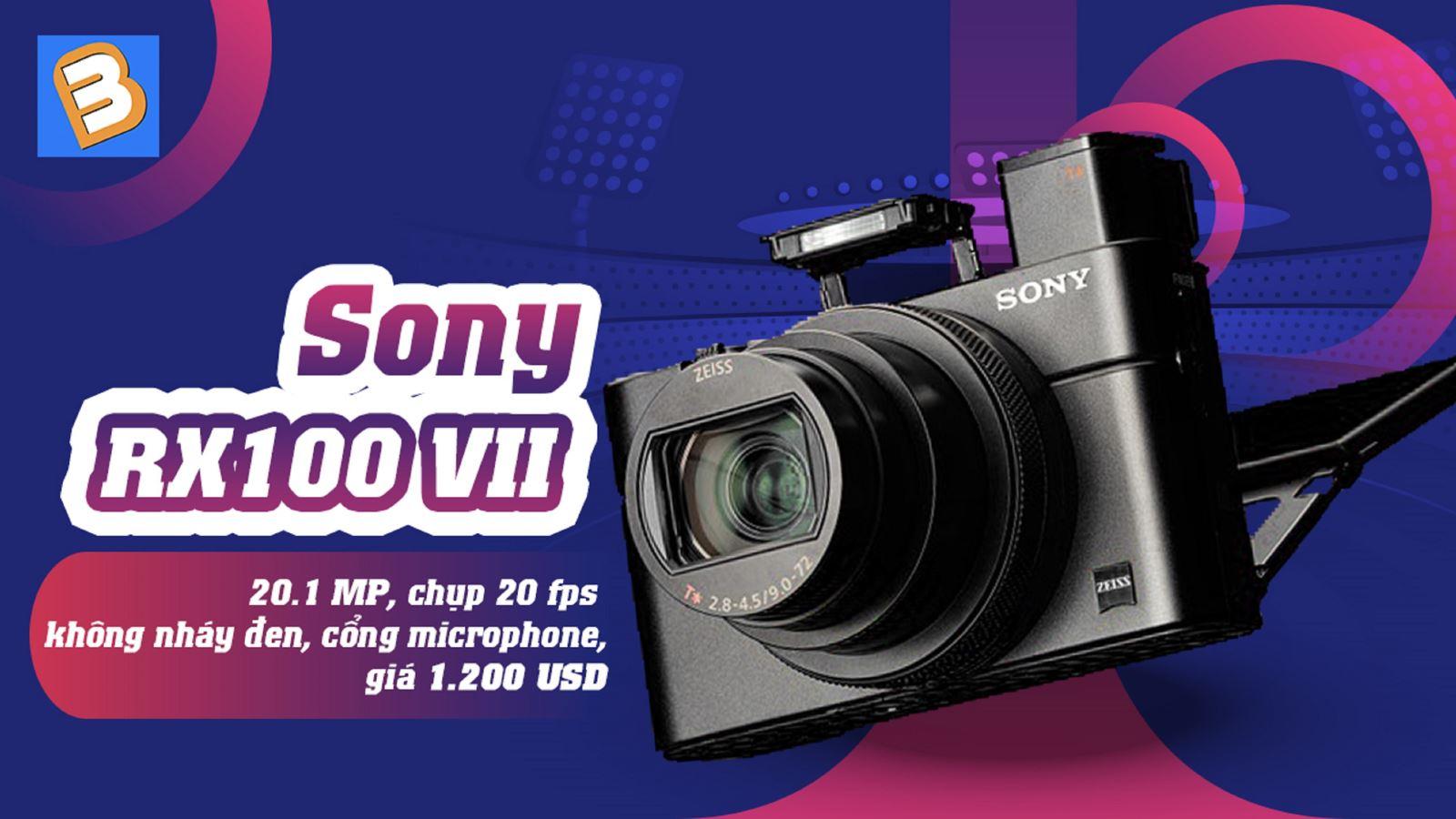 Sony ra mắtRX100 VII: 20.1 MP, chụp 20 fps không nháy đen, cổng microphone, giá 1.200USD