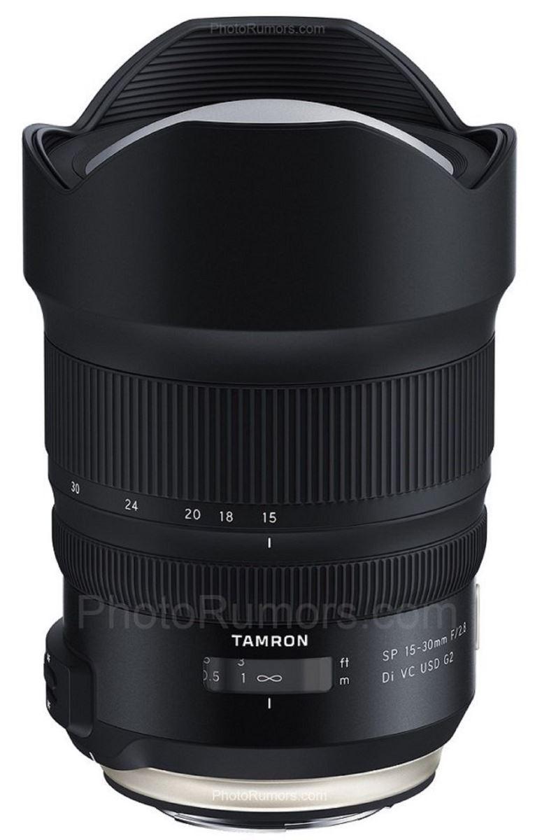 Tamron chuẩn bị cho ra mắt ống kính góc rộng 15-30mm f/2.8 Di VC USD G2