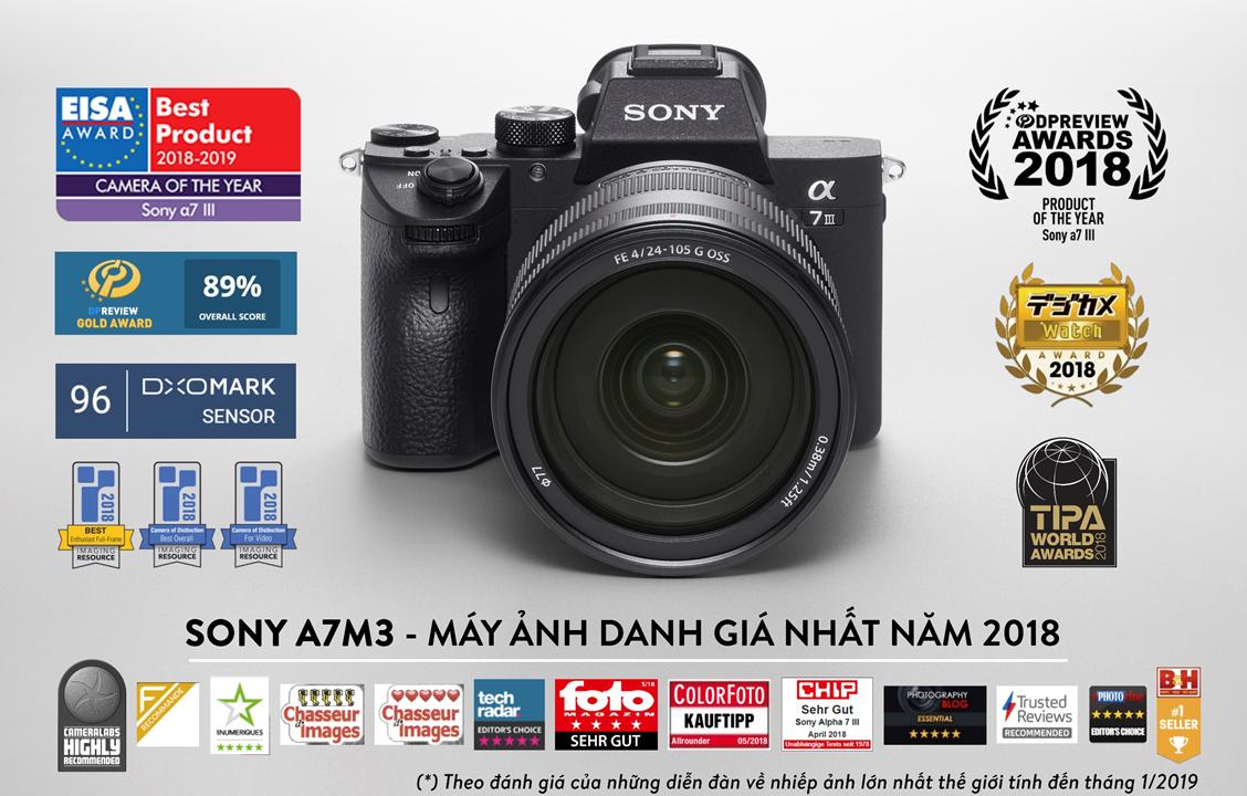 Sony A7M3 chiếc máy ảnh \u201cnhỏ mà có võ\u201d, Sony A7M3 đã được cả thế giới trao vương miện và liên tục nhận giải thưởng máy ảnh xuất sắc nhất đến từ ...