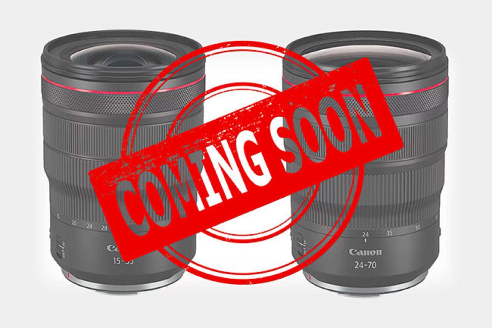 Canon sẽ phát hành bộđôi RF 15-35mm f/2.8L IS và RF 24-70mm f/2.8L IS trong tháng này