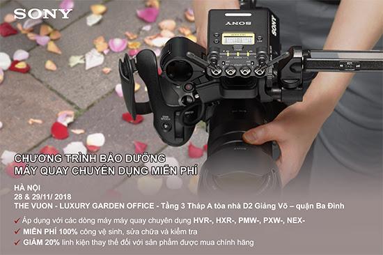 Chương trình bảo dưỡng máy quay chuyên dụng Sony miễn phí tại Hà Nội