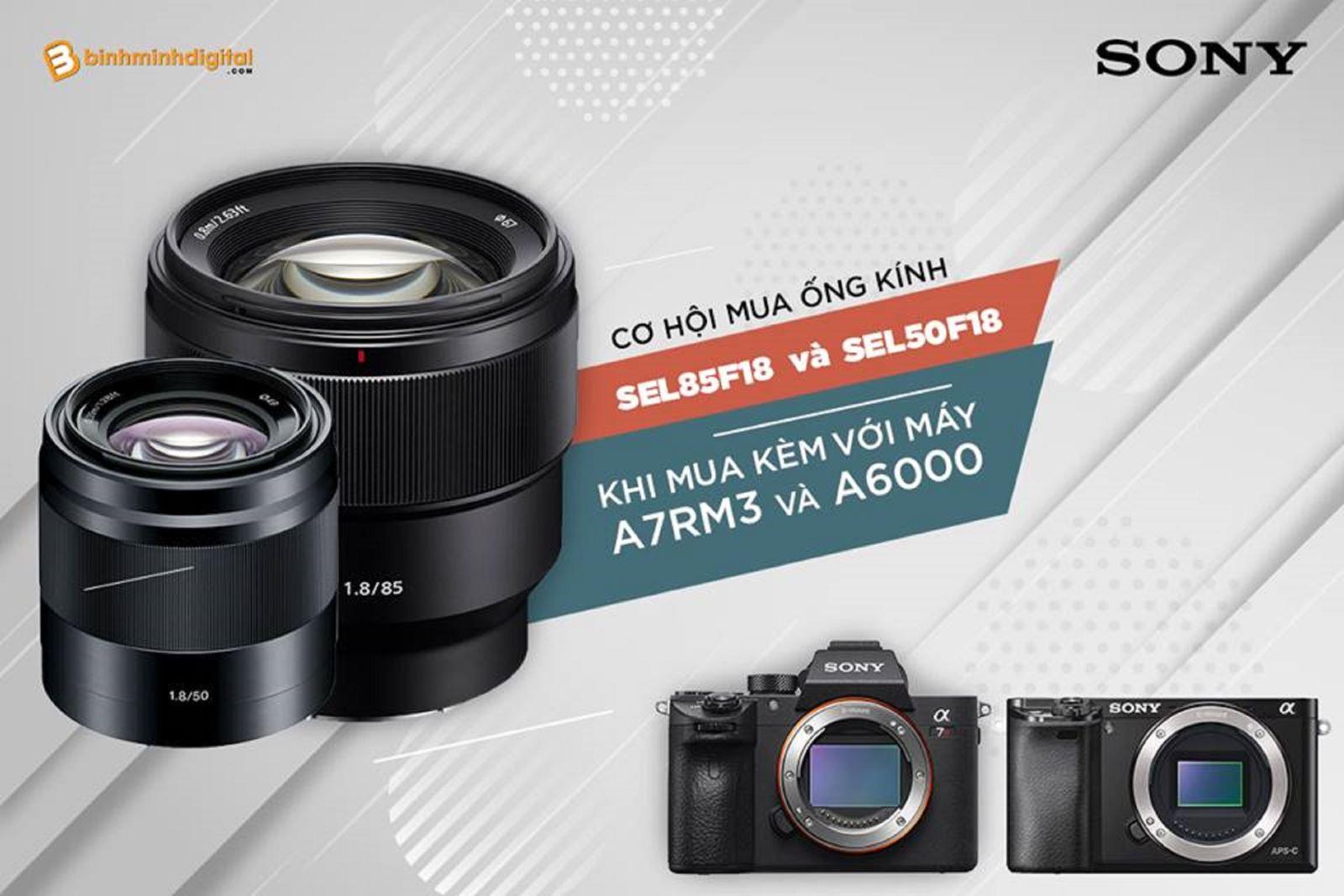 Cơ hội mua ống kính Sony với giá cực kì sốc duy nhất tại Bình Minh Digital