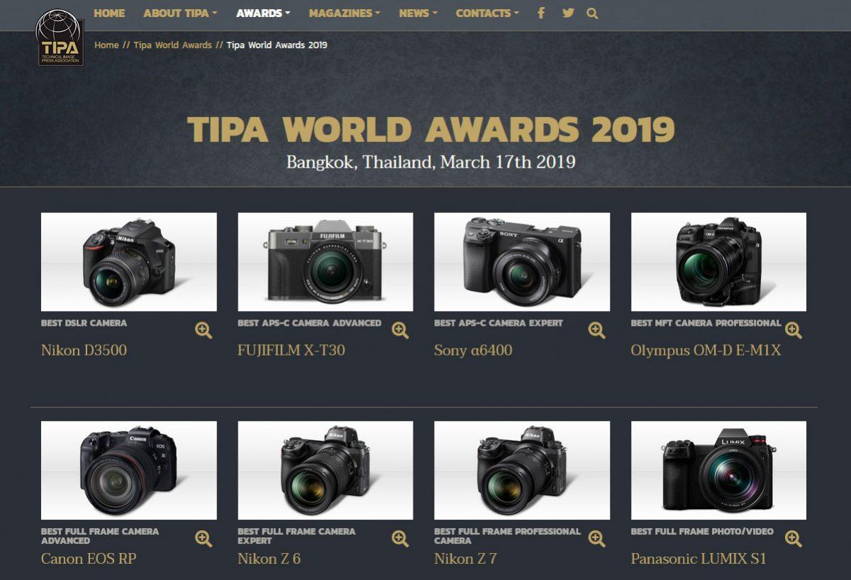 Dưới đây là danh sách những chiếc máy ảnh xuất sắc nhất năm 2019 do TIPA bình chọn. Cùng xem nhé!