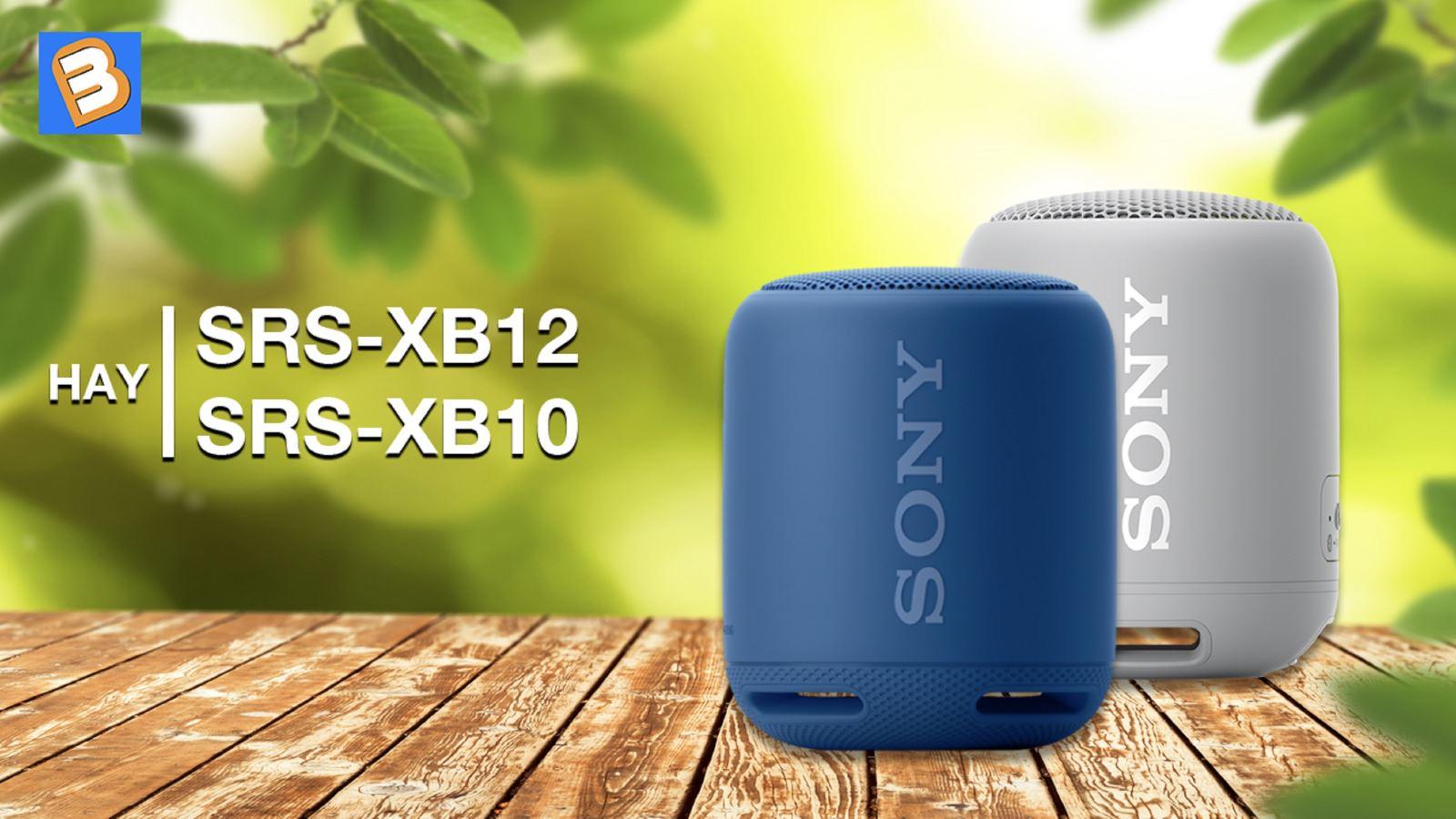 Chọn loa Sony SRS-XB12 haySRS-XB10