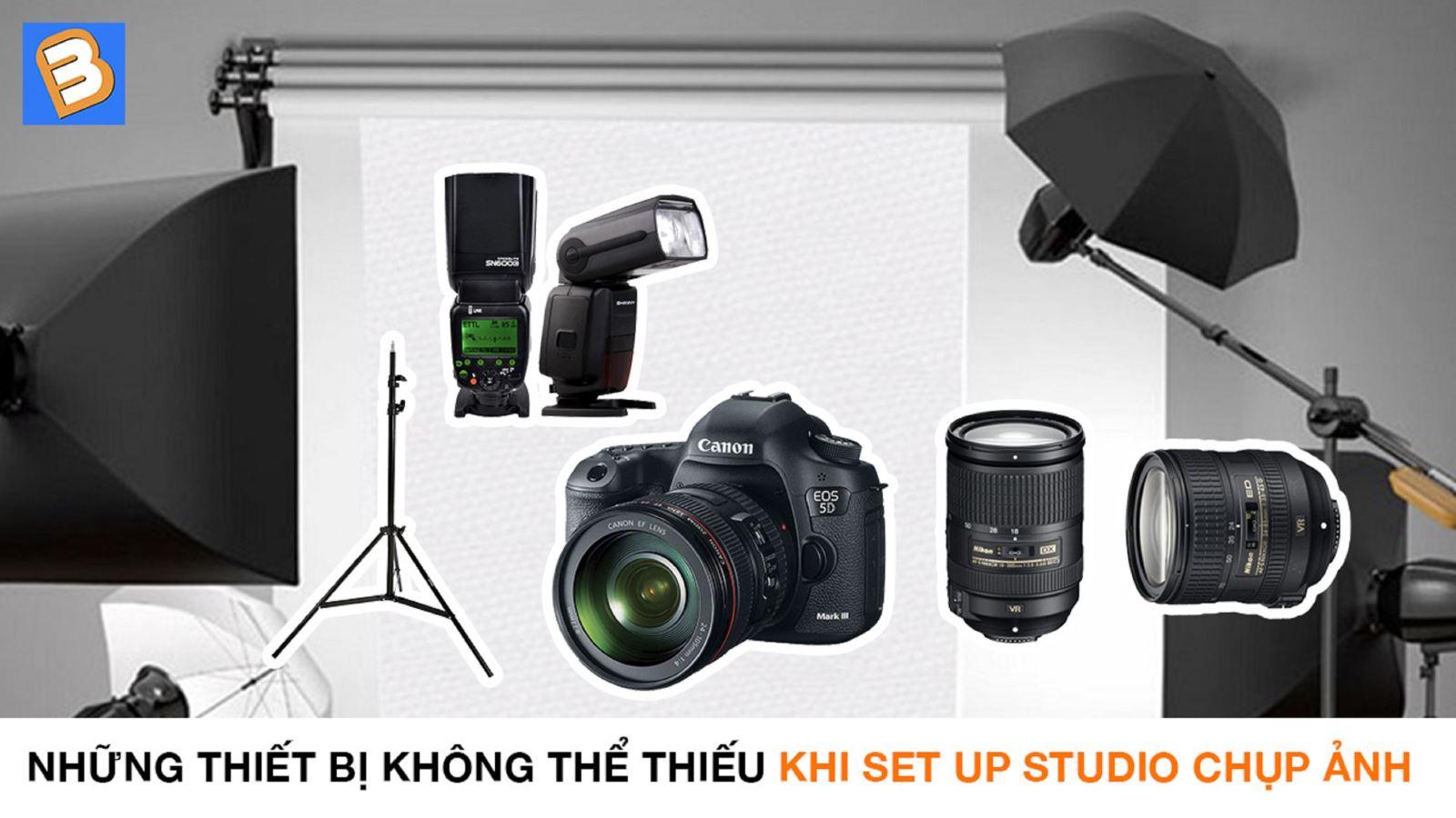 Những thiết bị không thể thiếu khi set up studio chụp ảnh