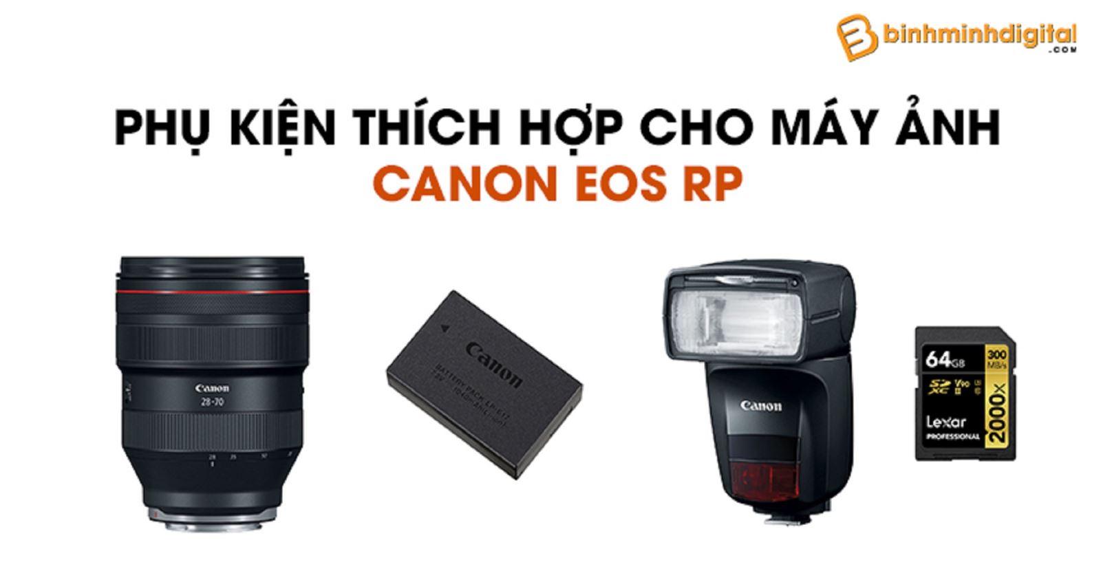 Phụ kiện thích hợp cho máy ảnh Canon EOS RP