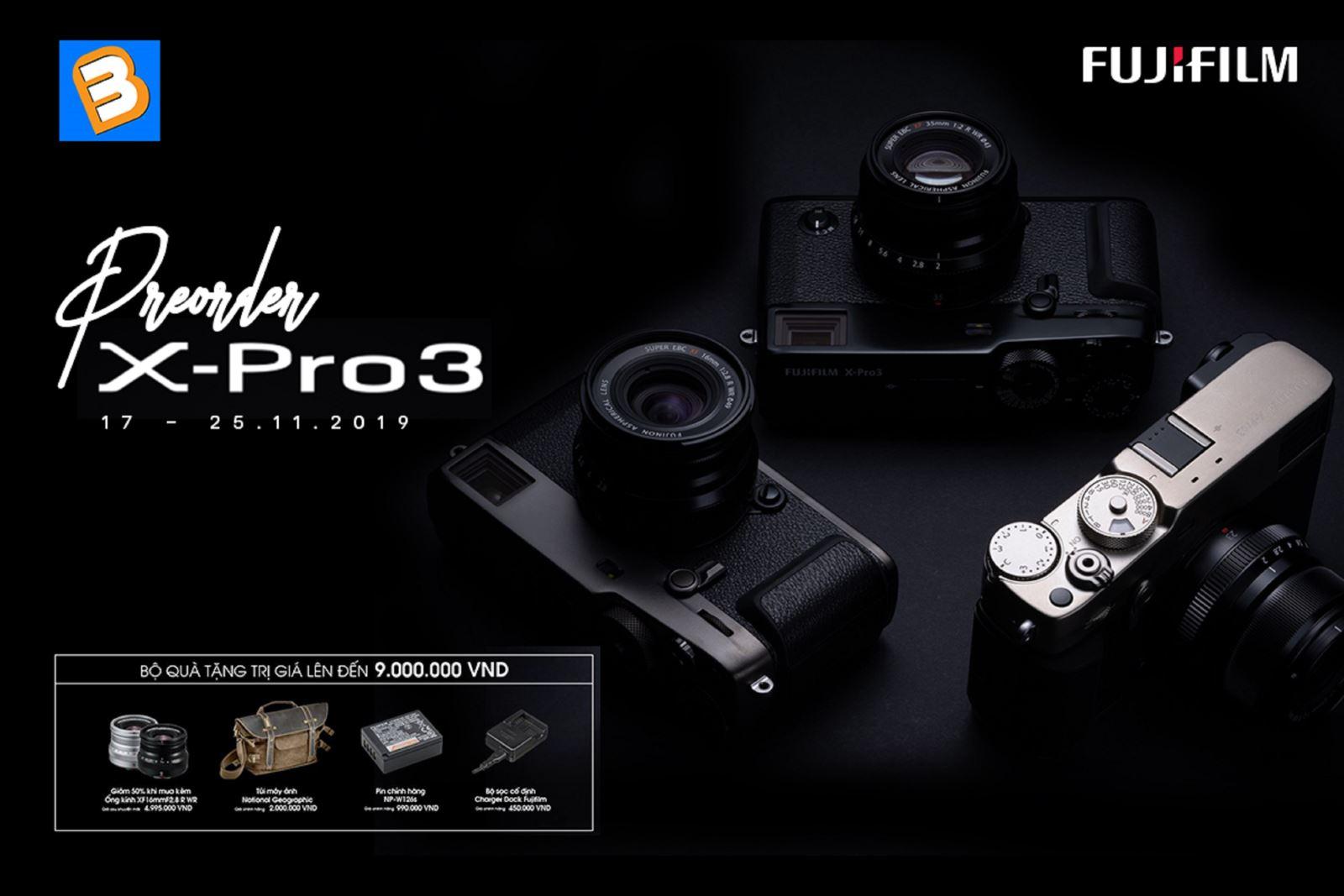 Pre-Order máy ảnhFujifilm X-Pro3