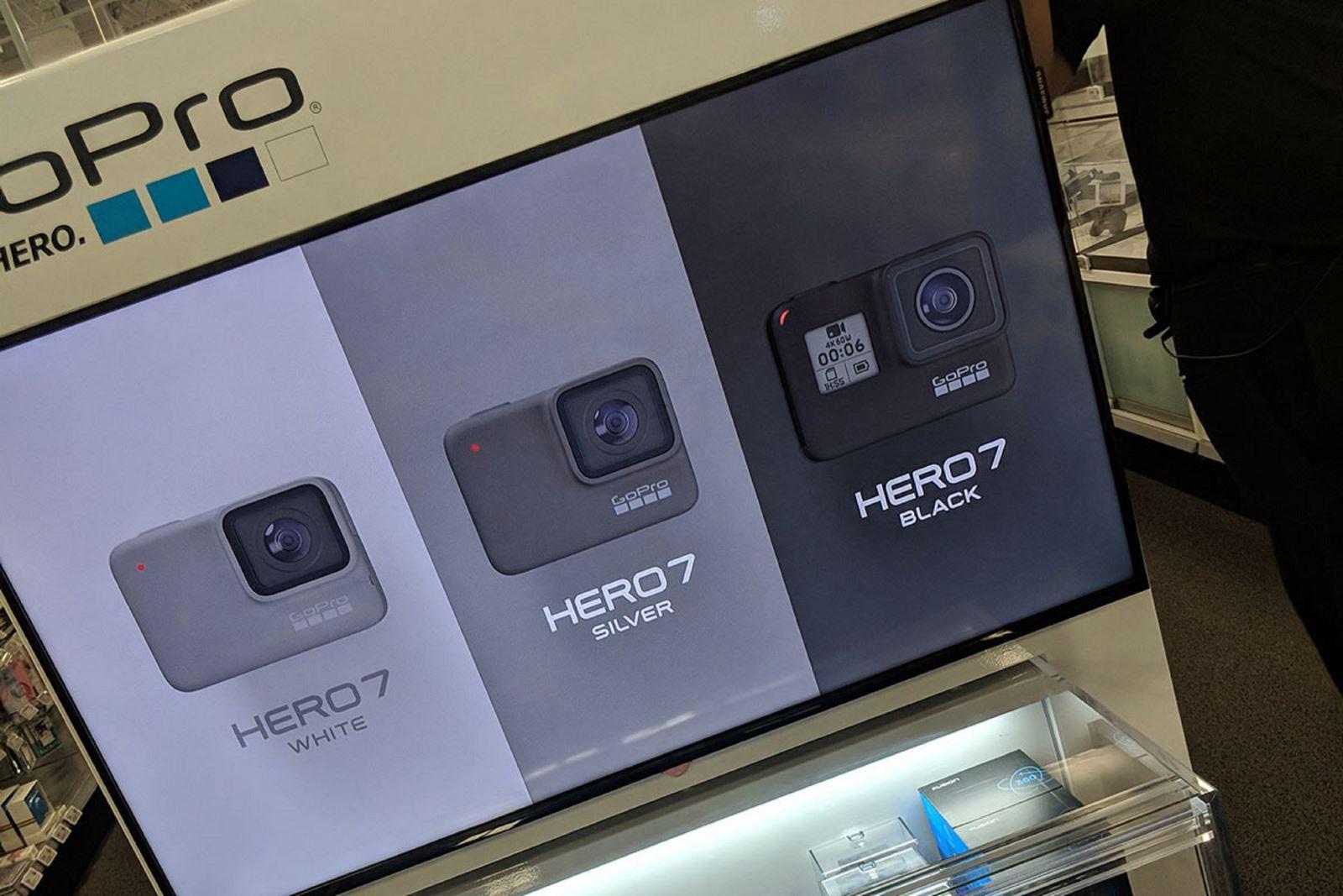 GoPro Hero 7 với ba phiên bản: Black, White,Silver đã lộ diện
