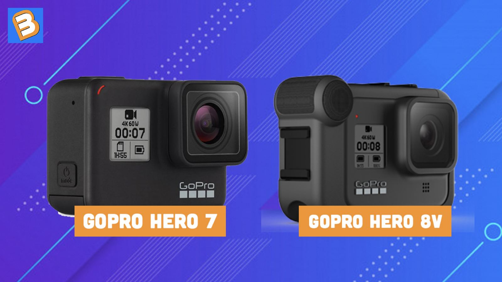 So sánh GoPro Hero 8 Black và Hero 7 Black