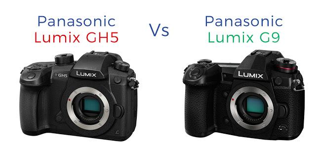 So sánh máy ảnh Panasonic Lumix G9 với Panasonic Lumix GH5