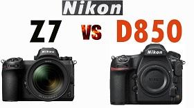 So sánh Nikon Z7 và NikonD850