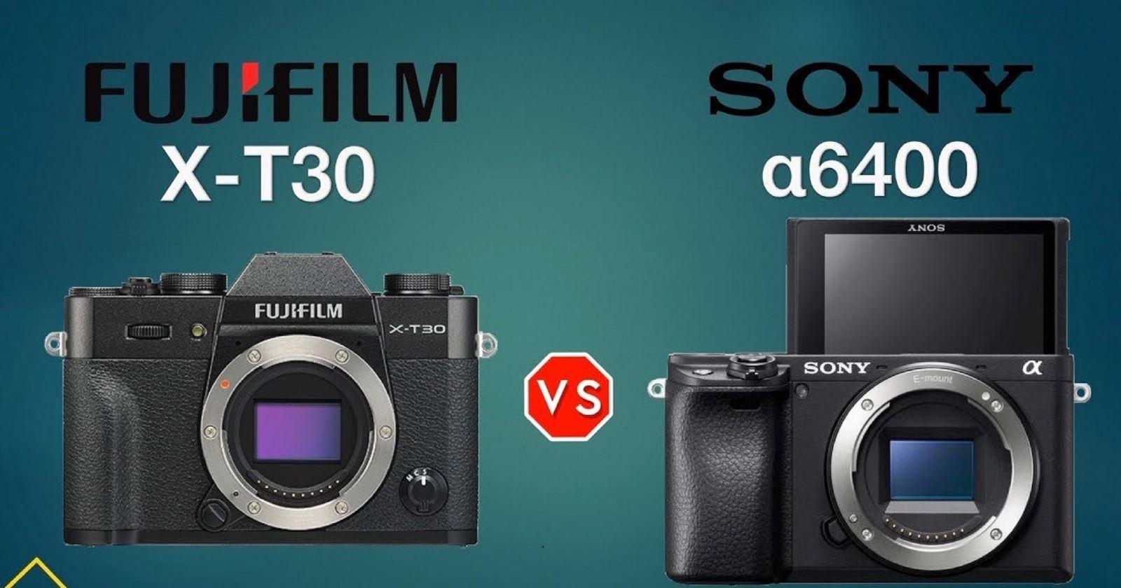 So sánh Sony A6400 vàFujifilm X-T30