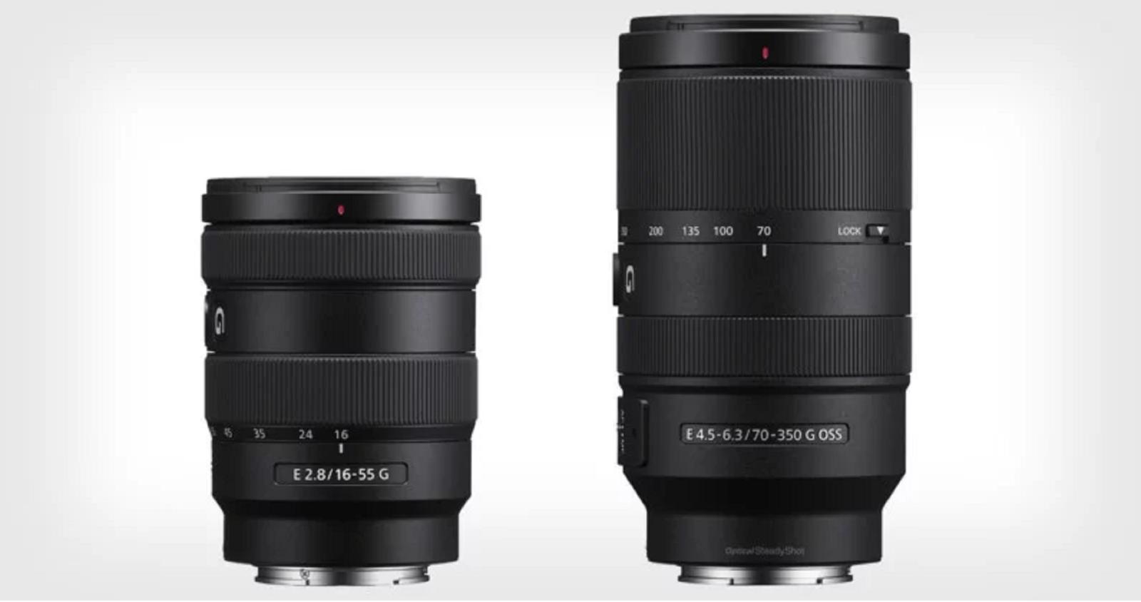 Sony công bốhai ống kínhmới 16-55mm f/2.8 G và 70-350mm f/4.5-6.3 G ngàm E cho hệ máy APS-C